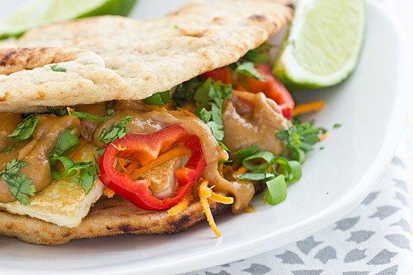 Crispy Tofu Sandwiches with Ginger Peanut Sauce Recipe