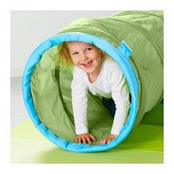 IKEA - BUSA, Play tunnel,  ,  , , No assembly required; easy to use.Press together to save space when not in use.Crawling helps the brain to sort sensory impressions and develops motor skills.