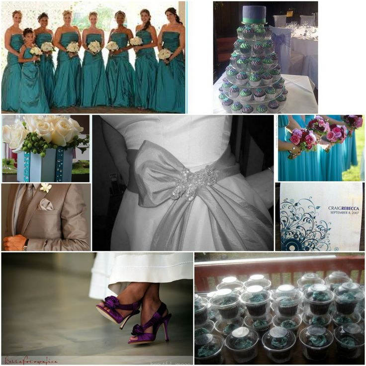 53 best purple teal wedding ideas images on pinterest for Teal wedding theme ideas