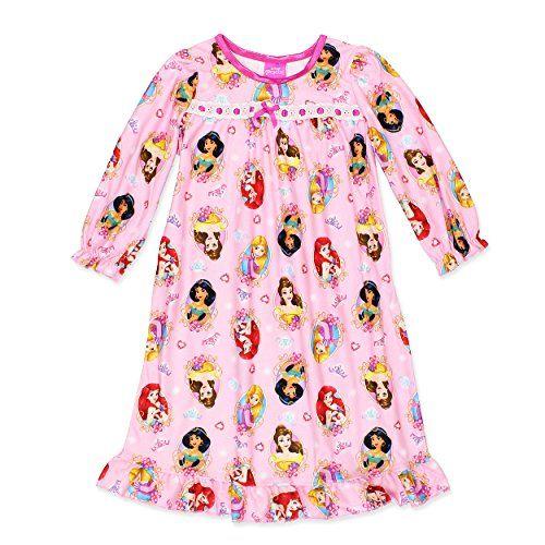 Disney Princess Girls Flannel Granny Gown Nightgown #DisneyPrincess #Disney #Nightgown #GirlsNightgown #CharacterNightgown #GiftsForKids #Shopping #GirlsFashion #FunFashion #FunStartsHere #YTB