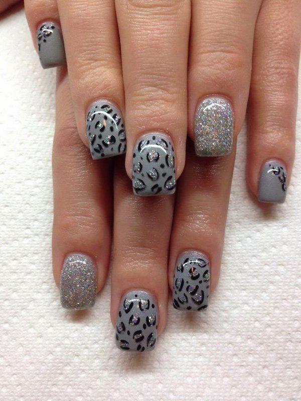 Cheetah Nail art - 50 Cheetah Nail Designs  <3 <3