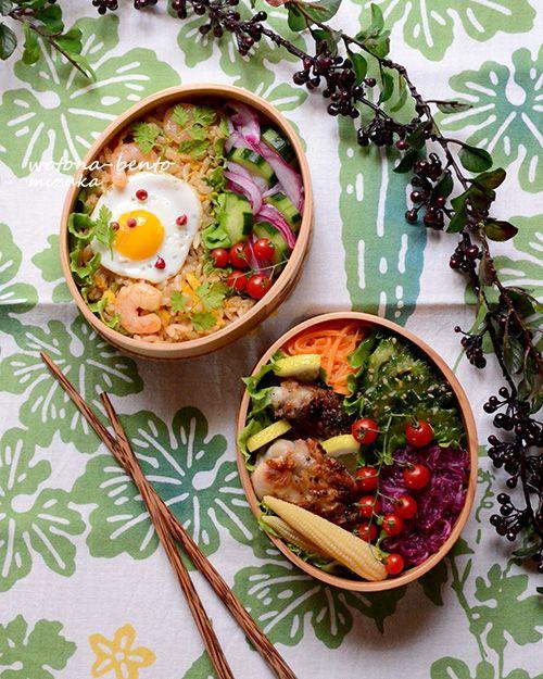 おはようございます!今日から8月。週の始まりで月の始まりの本日のオベントー!・手羽元のレモンペッパーグリル・人参のマリネ・ゴーヤのナムル・紫キャベツのピクルス・ヤングコーンの煎り酒漬け・きゅうりと酢玉ねぎのサラダ・うずらの目玉焼き・ナシゴレン←冷食仮住まいの台所、もう、暑くて暑くて、熱中症寸前ですだから、しばらくは市販のモノもふんだんに使っちゃう(*´艸`*)別名、手抜き(笑)今週は、明日お弁当がお休みなの...