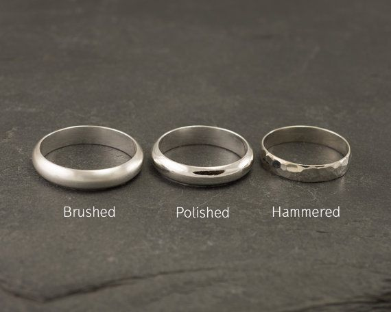 Wedding Band Set Modern Wedding Rings Sterling Silver by Artulia