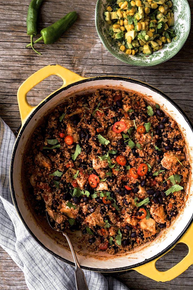 Casserole Mexicaine «one pot» poulet et quinoa | K pour Katrine