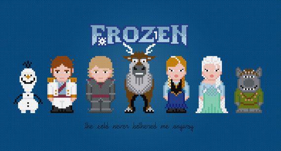 Frozen geeky cross stitch pattern - Amazing Cross Stitch | Cool Mom Picks