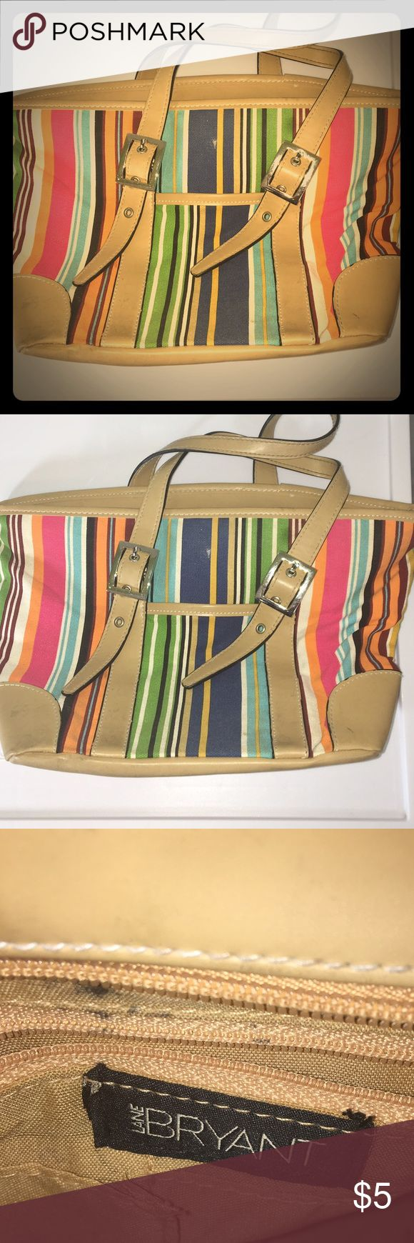 Lane Bryant Multicolored Striped Purse A beautiful and versatile purse from Lane Bryant. Add the perfect pop of color to any outfit with this piece. Shows some wear but it is still in great condition! Lane Bryant Bags Shoulder Bags