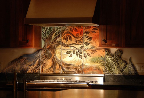 Tree of Life, backsplash tile contemporary accessories and decor