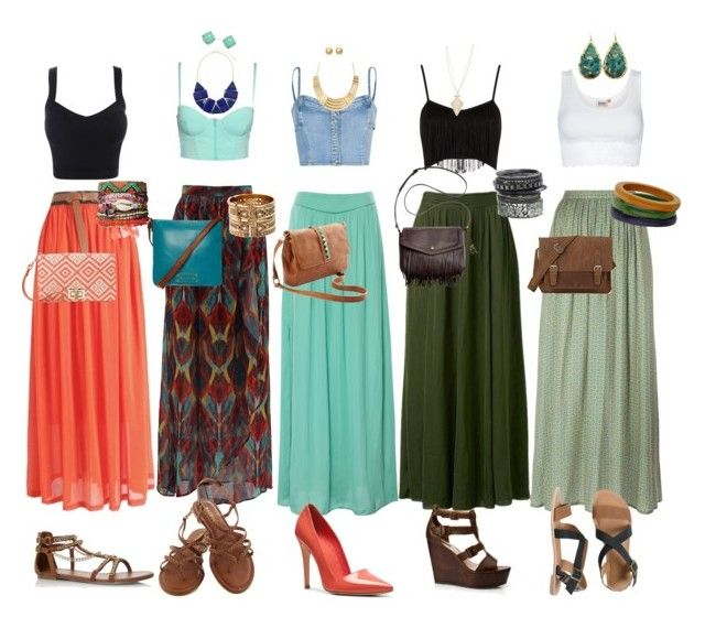 """""""Crop top and maxi skirt fever"""" by skimboardslim ❤ liked on Polyvore featuring Pull&Bear, Forever New, ATTIC AND BARN, MANGO, ONLY, Topshop, Alice + Olivia, A