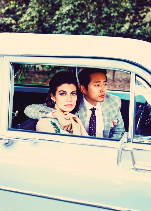 Lauren Cohan & Steven Yeun for LA Magazine