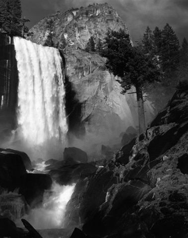 Vernal Fall by Ansel Adams