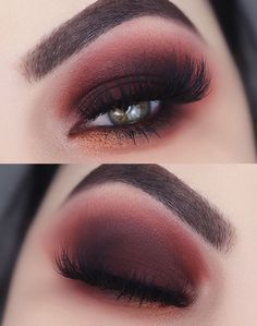 Red and black party makeup ?  #black #makeup #party