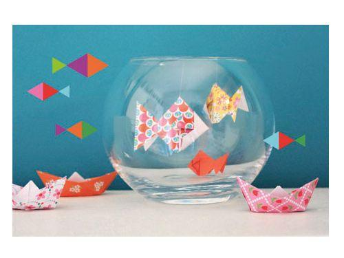 Peces descargables gratis para imprimir paper toys - Manualidades decoracion cumpleanos ...