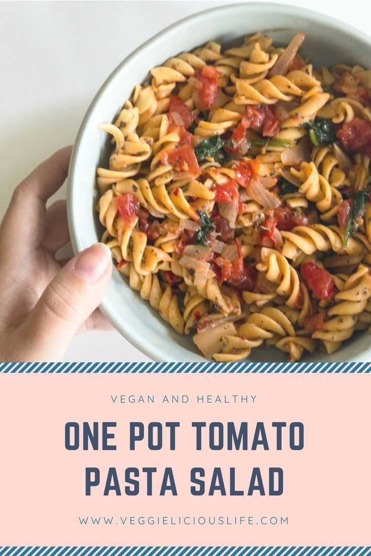 One Pot Tomato Pasta Salad
