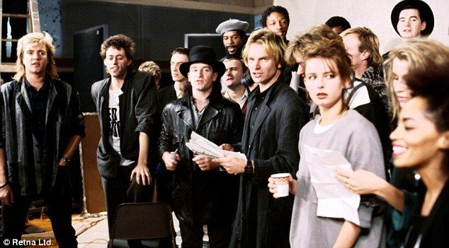 "1984 - Band Aid recording ""Do They Know It's Christmas"" - profits going to famine relief in Ethiopia."