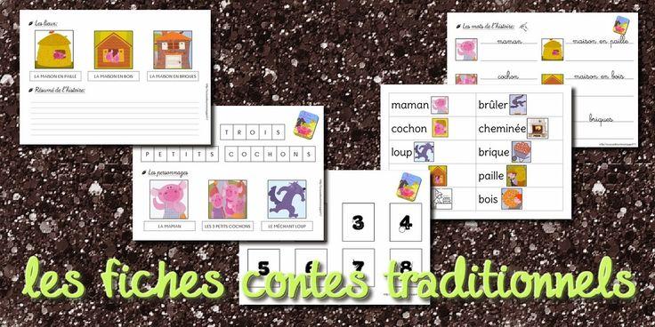La maternelle de Laurène: Le cahier de contes - les fiches contes