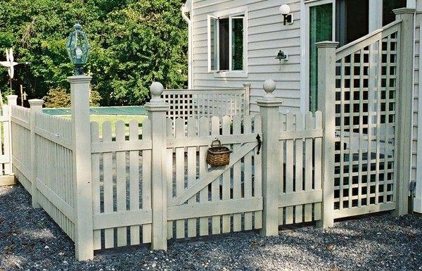 blanche conception de clôture en bois