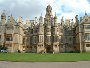 Harlaxton Manor, built in 1837, home to the British branch of the University of Evansville in Indiana.  Holy cow, why did I not know about this when I went to college?? http://www.ueharlax.ac.uk/harlaxton/index.cfm