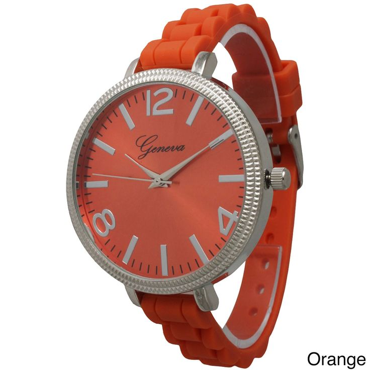 Olivia Pratt Women's Sleek Ridged Bezel Skinny Strap Watch