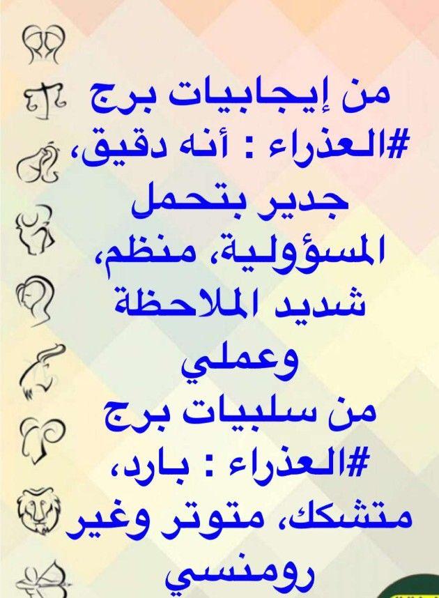 Pin By Queen On الابراج Zodiac Signs Math Zodiac