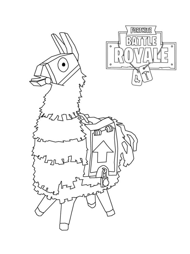 fortnite coloring pages clipart battle royale lama 20
