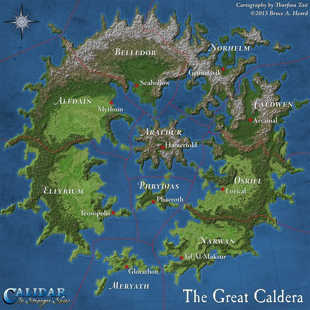 The 157 best floorplans and maps images on pinterest fantasy map the first draft of the great caldera map i produced this version from work in progress assets for the kickstarter campaign the final poster map will be a gumiabroncs Image collections