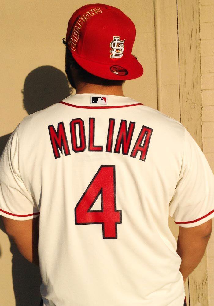 uk availability 83734 360db Yadier Molina St Louis Cardinals Mens Replica Cool Base ...