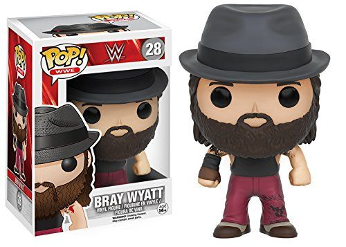 Follow the buzzards... to this awesome vinyl figure! The WWE Bray Wyatt Pop! Vinyl Figure features the sensational Wyatt brother as a cute little Pop! Vinyl! This figure measures about 3 3/4-inches ta...