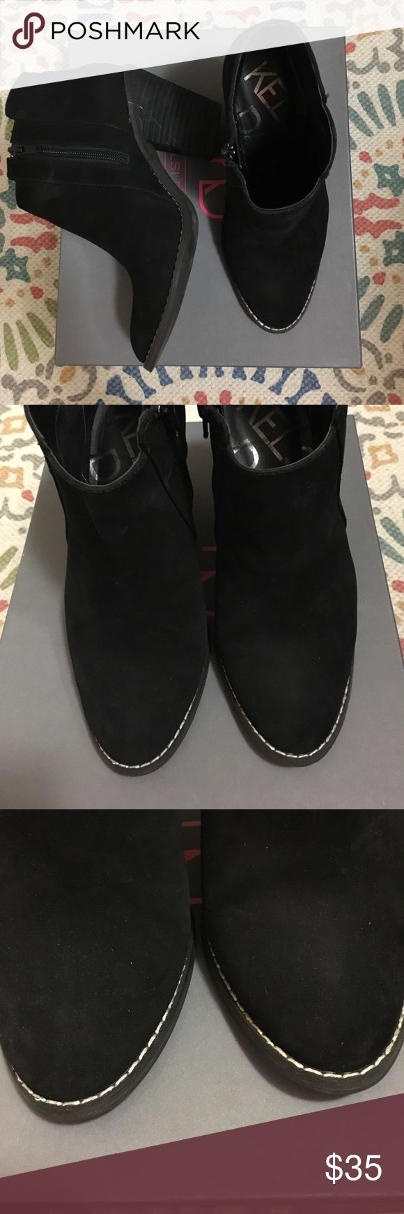 Kelsi Dagger Jaegger Booties in Black Nubuck Kelsi Dagger Jaegger booties in black nubuck, gently worn a few times, please check pictures for signs of wear Kelsi Dagger Shoes Ankle Boots & Booties