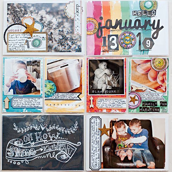 Project Life 2014 - January page 5 by @Heather Creswell Greenwood