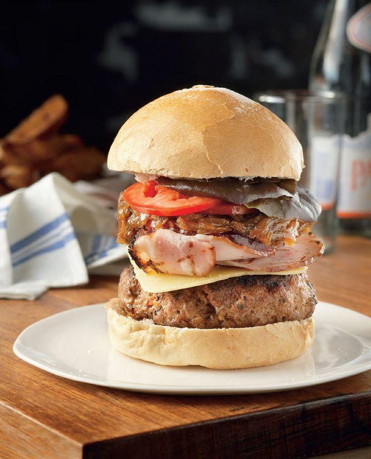 Big Aussie beef burger recipe by Adrian Richardson   Cooked