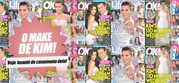 Aeee!! Saíram fotos do casamento da Kim Kardashian! Passei o final de semana todo no F5 pra tentar espiar alguma coisa! hehe O E! liberou umas imagens e já catei algumas pra mostrar para vocês! O casamento com o jogador de basquete Kris Humphries foi nesse sábado, dia 20. Achei a Kim maravilhosa, olha o …