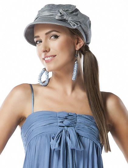 Καπέλο Κριστίνα - Κομψό καπέλο, διακοσμημένο με φιογκάκι στο πλάι και πετρούλες. 4.99€ #kapelo
