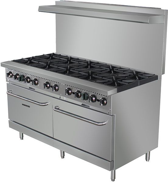 Black Diamond BDGR-60/NG 60in Gas Range w/10 Burners and 2 Ovens NG: Restaurant Equipment and Supplies Online : Restaurant Depot