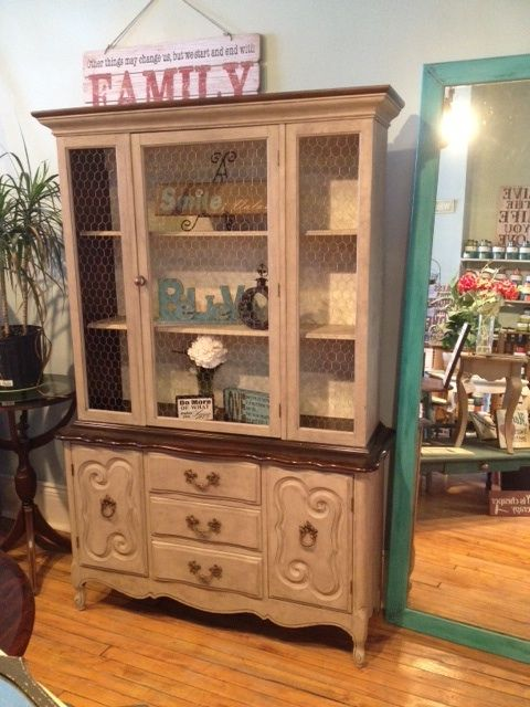 This cutie little cabinet has been redefined with cece for Cece caldwell kitchen cabinets
