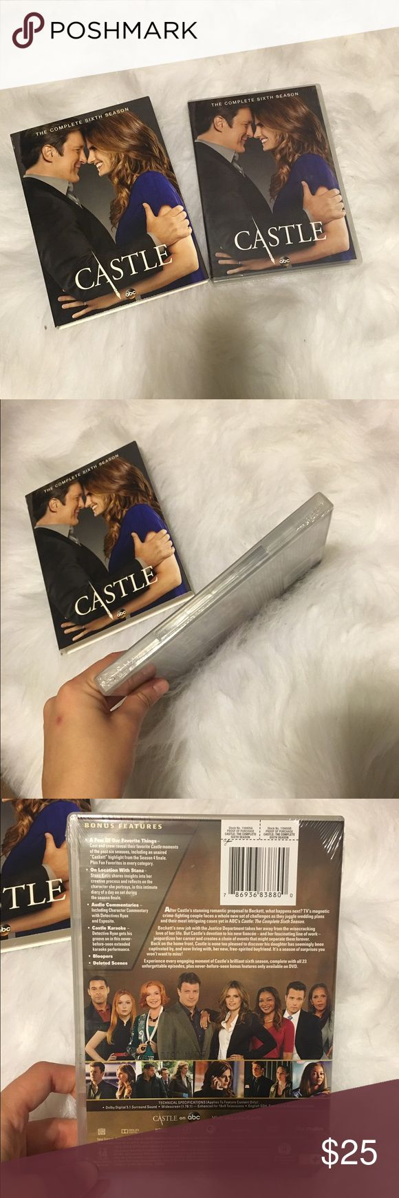 Castle Season 6 DVD BRAND NEW IN PACKAGING! Castle Season 6 DVD. New condition. Got it as a gift and I already have this season, so just trying to get it out of my way. **NO TRADES** Other