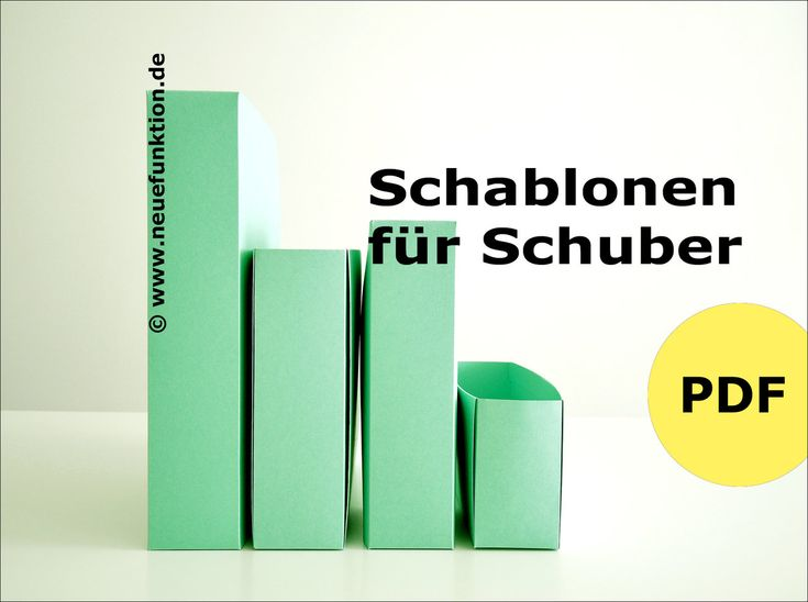 SCHABLONEN FÜR SCHUBER
