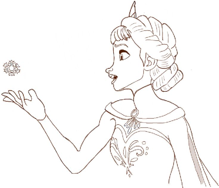 How To Draw Princess Elsa From Frozen Step By Step Princess Elsa Drawing