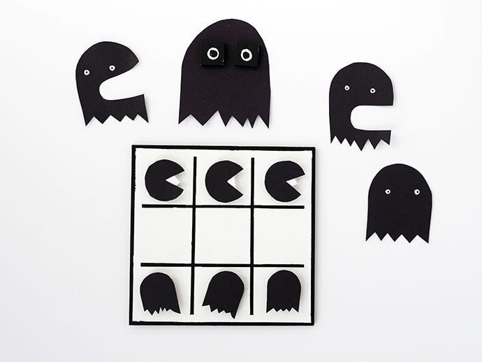 Хэллоуин для печати: Сделай сам Тик-так-пакман игры
