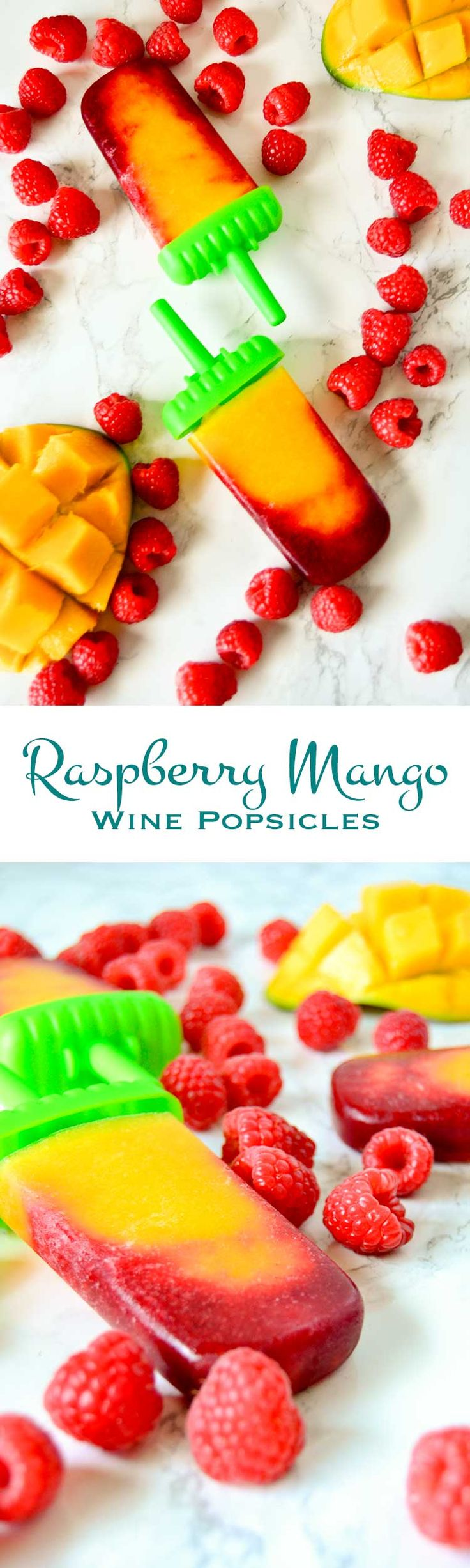 Raspberry mango wine popsicles are a delightfully refreshing, adults only treat. Perfect for hot summer days, BBQs, or no special reason at all.