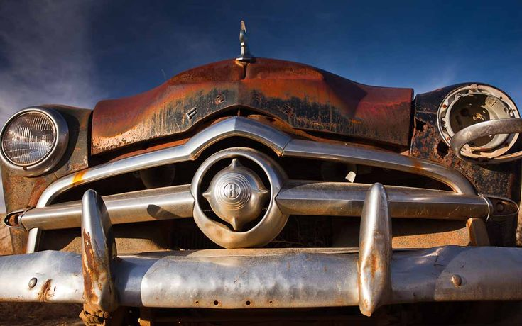 Forgotten Old Ford, Rusted out and left to rott.  Michael Spry photography