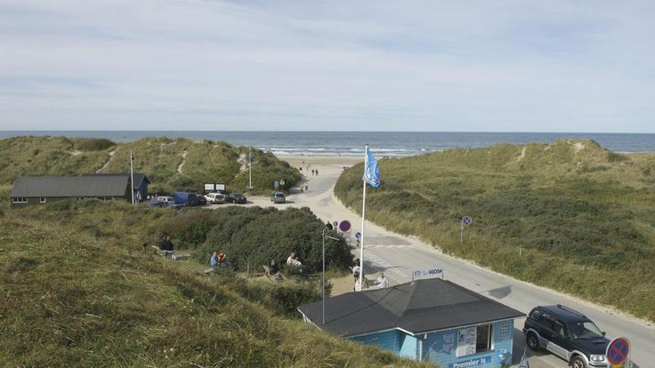 Det Blå ishus (The Blue Ice Kiosk) in Tversted, Denmark