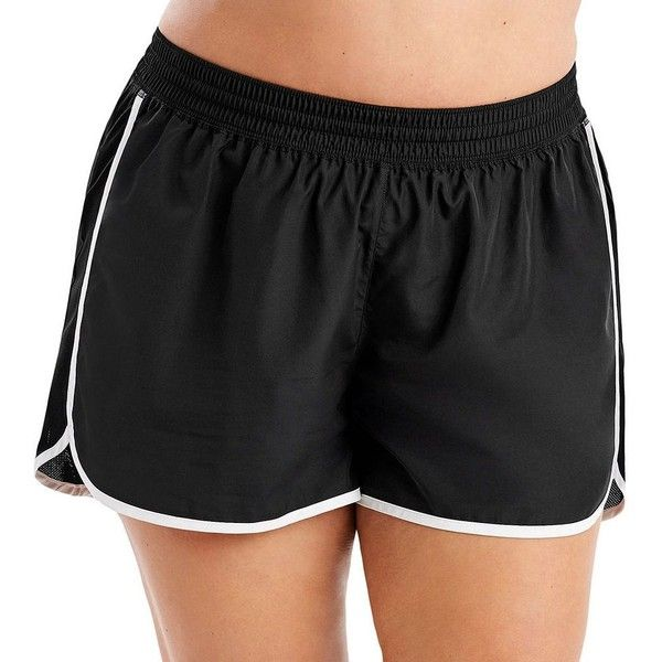 Plus Size Just My Size Mesh Side Running Shorts ($21) ❤ liked on Polyvore featuring plus size women's fashion, plus size clothing, plus size activewear, plus size activewear shorts, black, plus size, women's plus size activewear and plus size sportswear