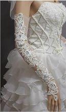 Sparkble sin dedos de matrimonio guantes blancos largos Rhinestone nupcial moldeado guantes de la boda 2016 nueva Beutiful guantes(China (Mainland))
