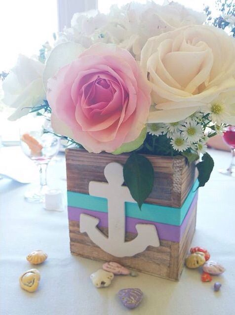 "Our wooden planter boxes make wonderful centerpiece elements for nautical & beach themed weddings and events. Our customer Beckee said, ""I used these boxes to make baby shower centerpieces with a nautical theme. These boxes were exactly what I wanted! It looked like driftwood. Perfect size! They were a big hit! I highly recommend these boxes!"""