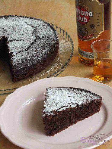 Una torta al cioccolato e rum perfetta per concludere un menù speciale per la festa del papà. Non ne rimarrà neanche una fetta!