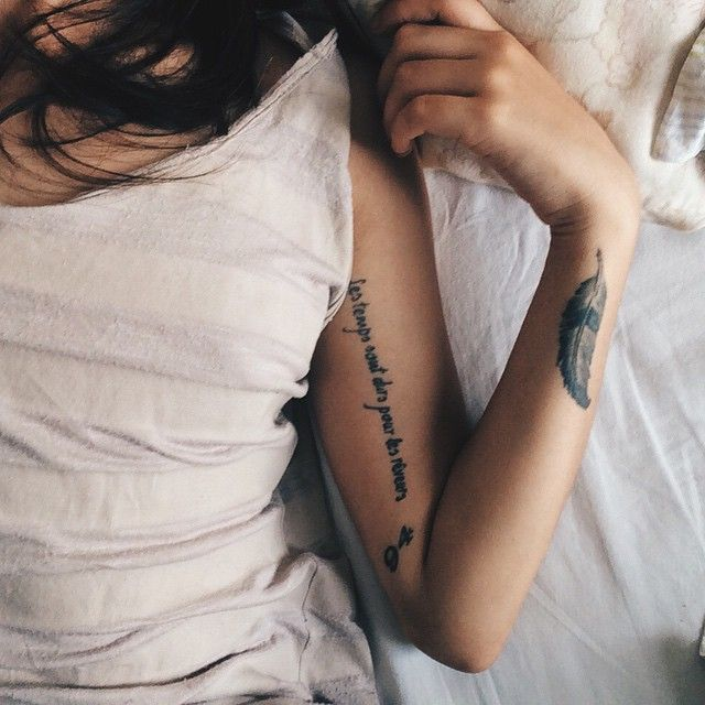 """I've thought of getting a tattoo on the under side of my arm like that. I would like it to say """"Stay Strong, Keep Enduring"""""""