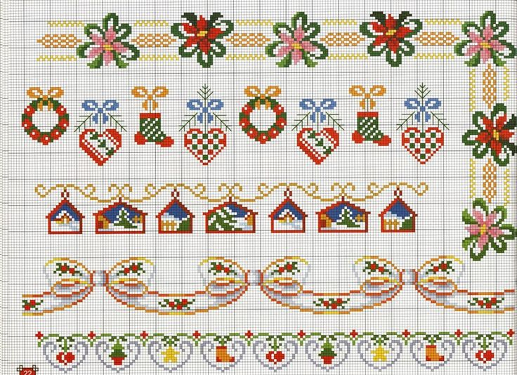 christmas cross stitch borders