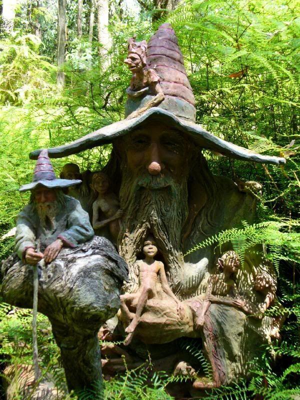 Brunos art and sculpture garden, Australia. Marysville, Victoria.