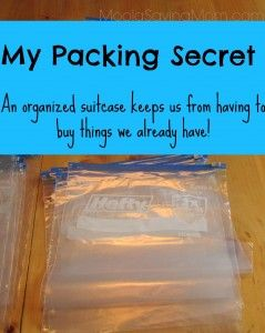 Thrifty Tip: Easy Packing - Moola Saving Mom