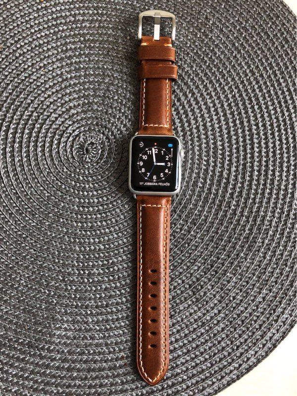 Apple Watch Leder Armband Echtleder Handgefertigt Apple Watch Series 1 2 3 4 Oil Waxed Leder Hellbraun Armband Leder Leder Handgefertigt